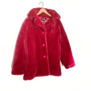 Blanc Noir fuisha faux fur coat